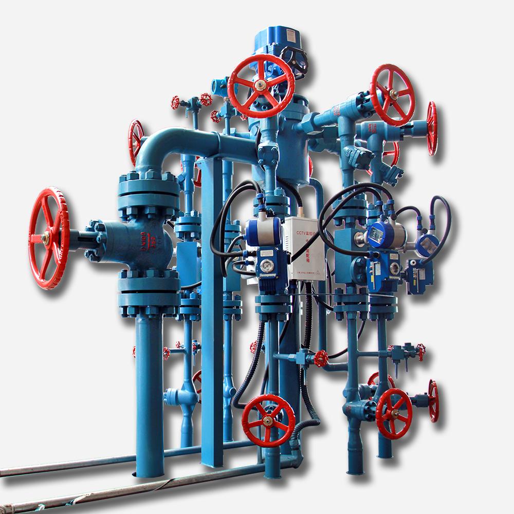 帶回轉閥式6井配水裝置
